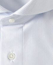 Load image into Gallery viewer, Close up of  white cotton and polyester shirt