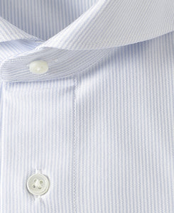 Close up of  white cotton and polyester shirt