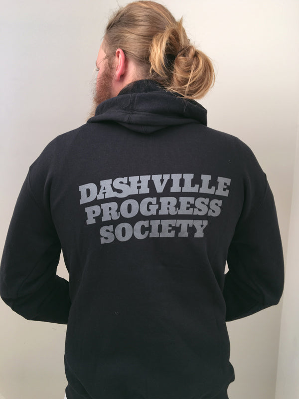 Dashville Progress Society Zip Hoodie Black