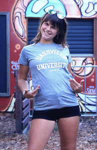 "Ladies ""Dashville University"" tee"
