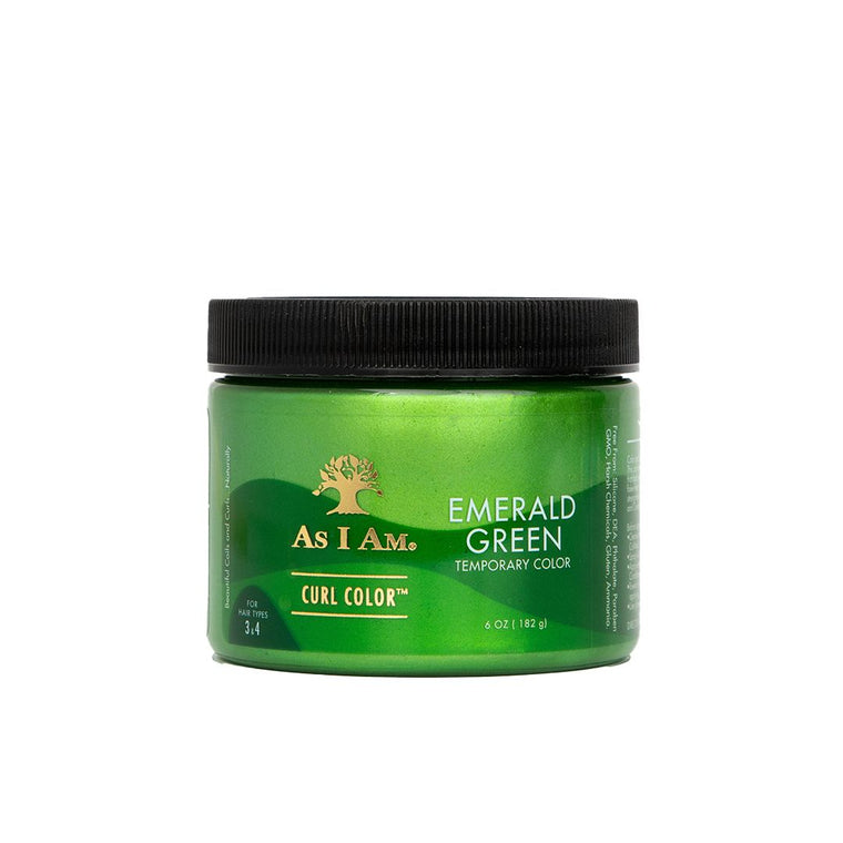 Curl Color Emerald Green