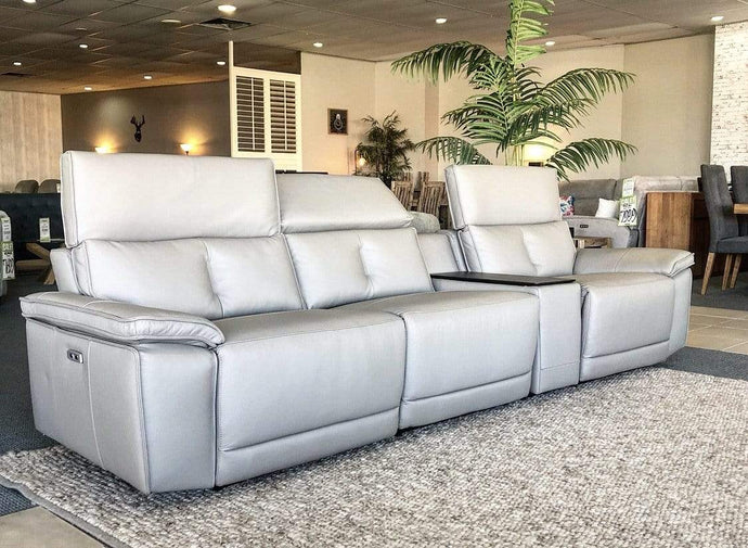 Miami Lounge Suite with 100% Top Grain Leather and Electric Recliners