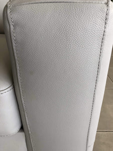 Close up of 100% Leather on Sofa Pair