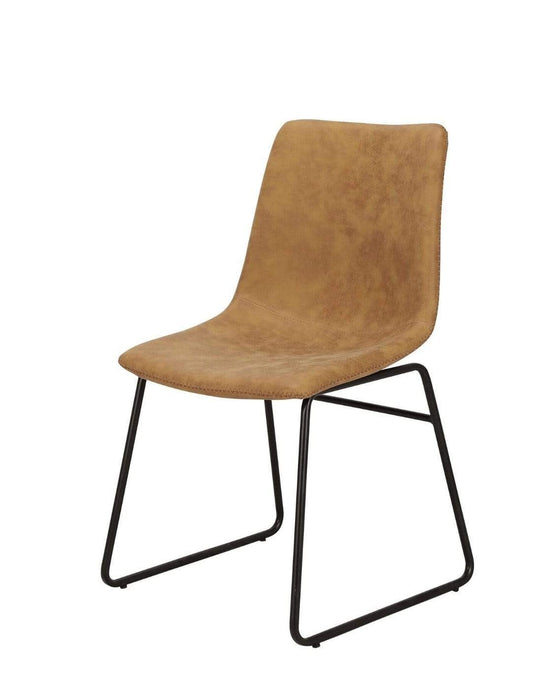 Justine Upholstered Dining Chair in tan
