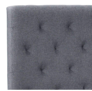 Penelope Linen Queen Tufted Headboard
