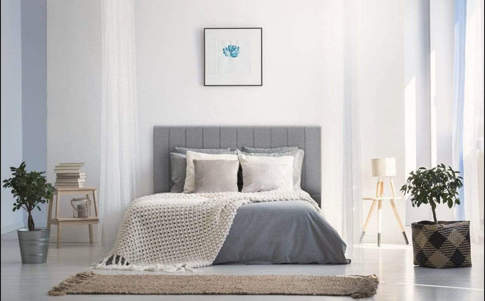 Caroline Linen Queen Headboard with mattress