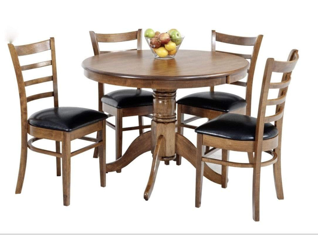 Coco 5 Piece Dining Suite in Walnut Finish