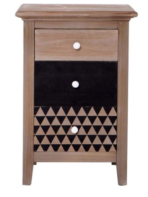 Cleo 3 Drawer Bedside Table