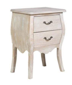 Naples 2 Drawer Bedside table in Antique finish