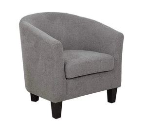 Grey Linen Club Chair