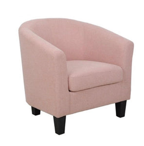 Coral Linen Club Chair