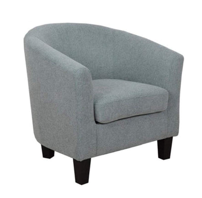 Blue Classic Linen Tub Chair