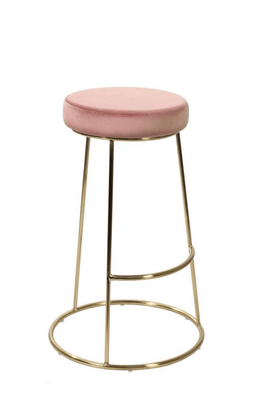 Jacinta Barstool with Classic Metal Frame Design