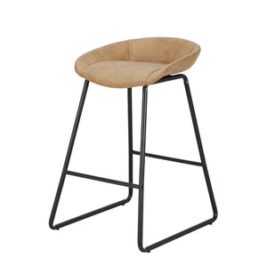 side of tan barstool