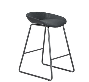 side of black barstools