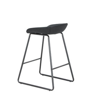 back of black barstool