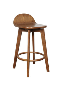 Caulfield Solid Oak Barstool with Teak frame and teak seat