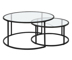 Cacao Glass Occasional Table Set