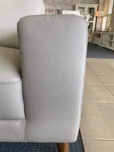Close up of arm rest on 100% Leather Sofa Pair