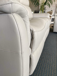 Footrest on leather Recliner lounge suite