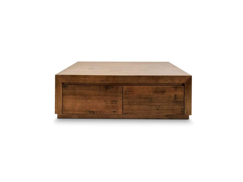 Huonville Tassie Oak coffee table with 2 drawers