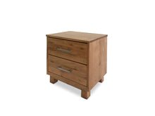 Timber Bedside Table Made From Solid American Oak on side angle shot