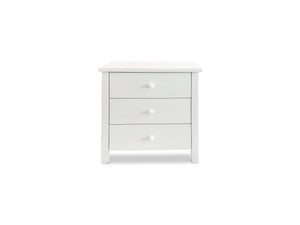 White Solid Timber bedside with 3 Drawers
