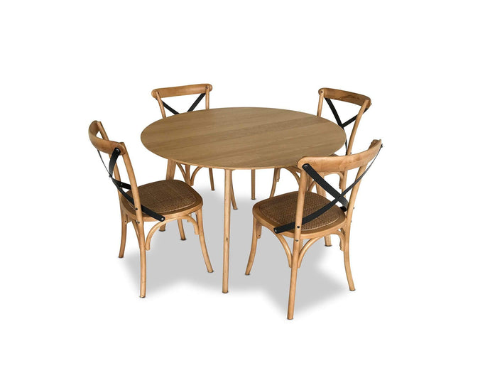 Dining Suite with 4 Bamboo Crossback Dining Chairs