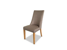 Dining chair with Oak Leg in Taupe
