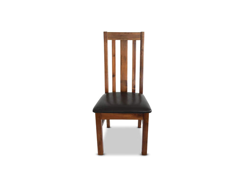 Dining Chair with Solid Timber Construction and PU Seat