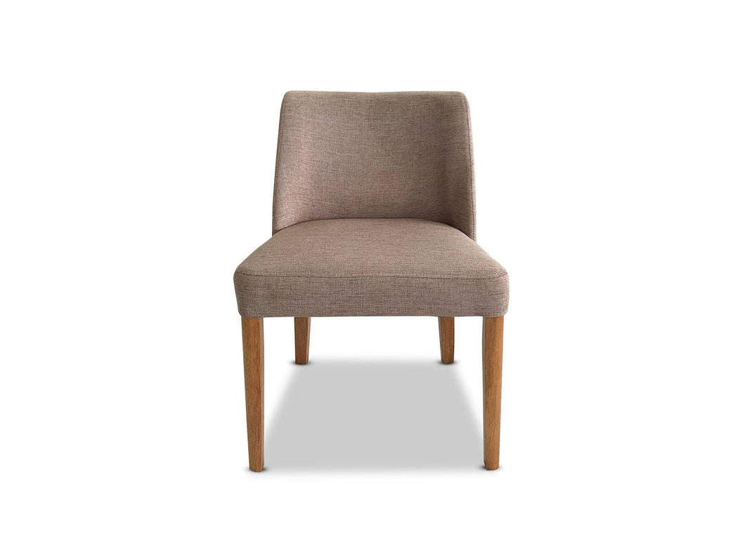 Tribecca Fabric dining chair in nutmeg and oak