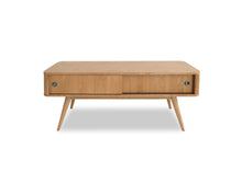 TV Unit with Scandinavian Leg and Sliding Doors