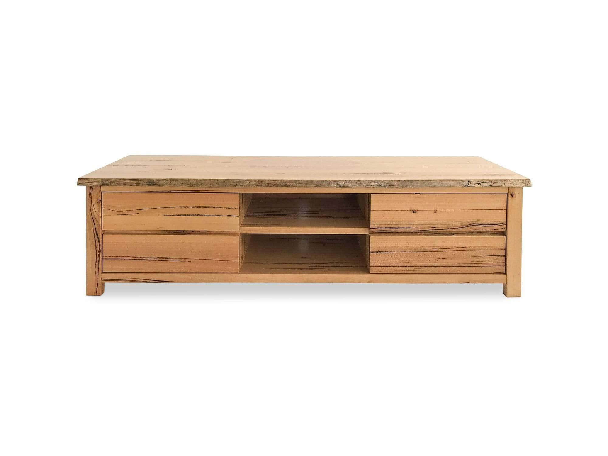 Stringy Bark Messmate Timber TV unit with Drawers