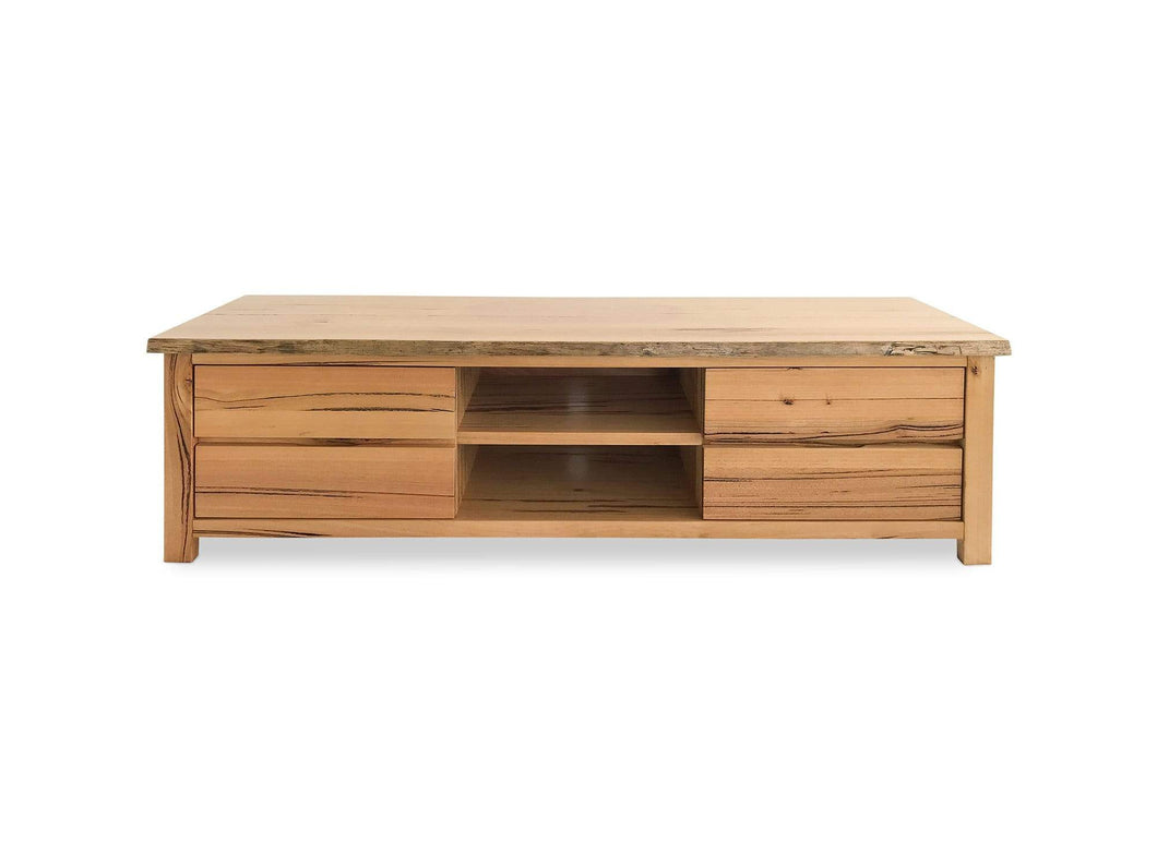Messmate Timber TV unit with Drawers