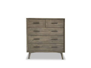 Seattle Timber Whitewash Tallboy with Scandinavian Leg