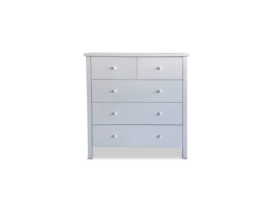Stella White Timber 6 drawer tallboy