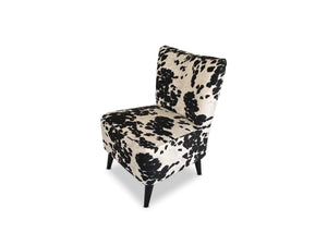 Pearl Fabric accent chair with Solid Oak Leg