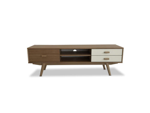 Sofia Scandinavian Two Tone TV unit with Drawers