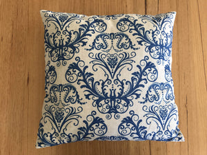 Blue Pattern Navy Cushion with Dacron filling