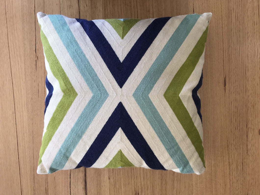 Green and blue chevron