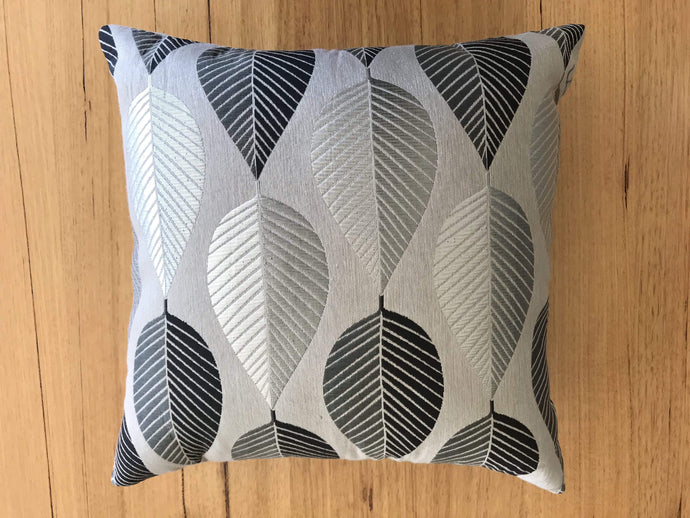 Silver leaf cushion