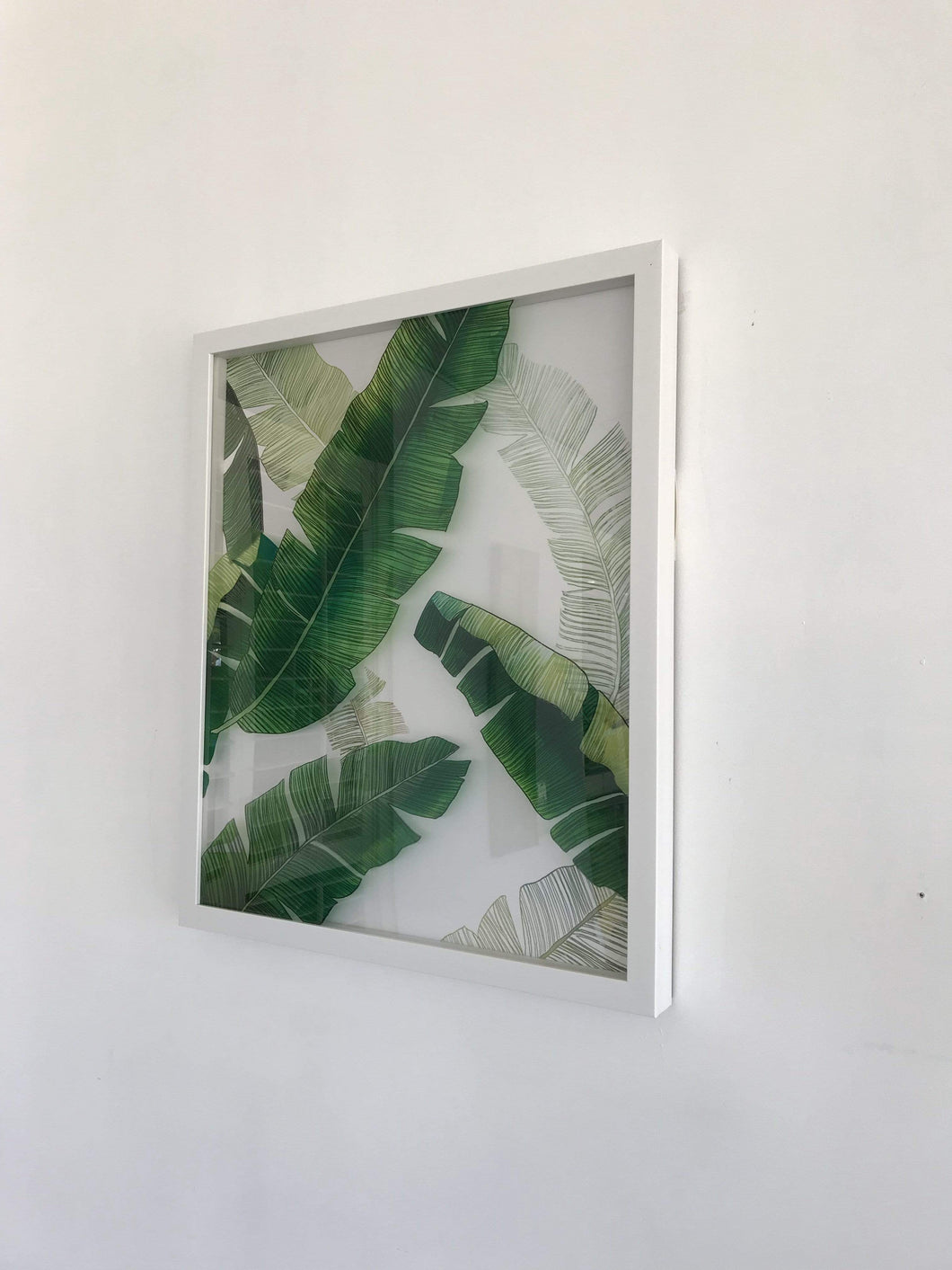 3D Banana Leaf Wall Art