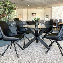 Toledo 5 Piece Round Glass Dining Suite