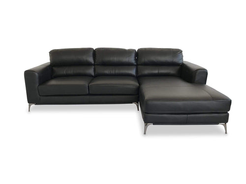 Idaho 100% Plush Leather chaise right had facing