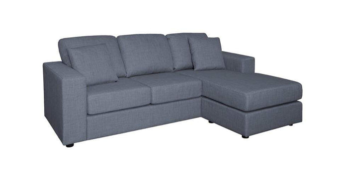 Charcoal Chaise Lounge in Fabric and Reversible