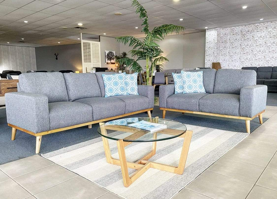 Scandinavian Sofa Pair with Innerspring Seating