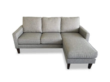 right hand facing Fabric Reversible Chaise Lounge on front on camera angle