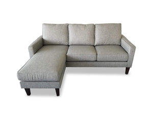 left hand facing Fabric Reversible Chaise Lounge