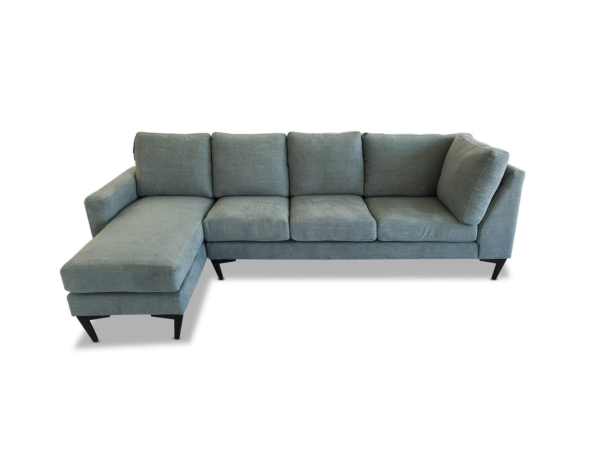 left hand facing Luxe Fabric Modular Chaise Lounge