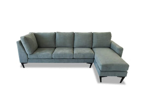 right hand facing Luxe Fabric Modular Chaise Lounge